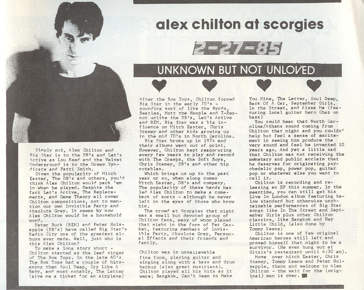 Alex Chilton article