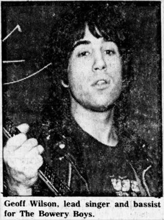 Geoff Wilson, lead singer and bassist for The Bowery Boys.