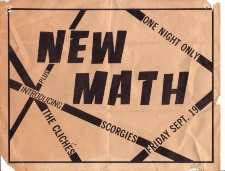 Cliches opening for New Math @ Scorgies in 1980