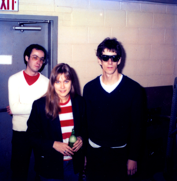 Three of the Hi-Techs, Martin Edic, Peggi Fournier and Paul Dodd, before going on stage at Scorgies in 1980