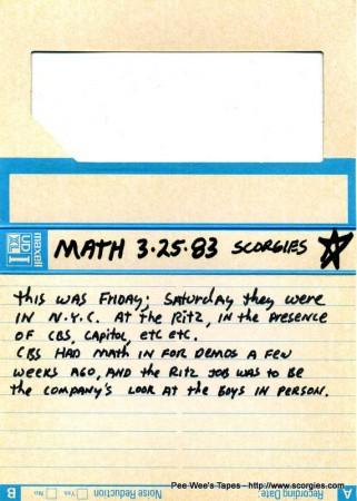 New Math 3-25-83 Scorgies